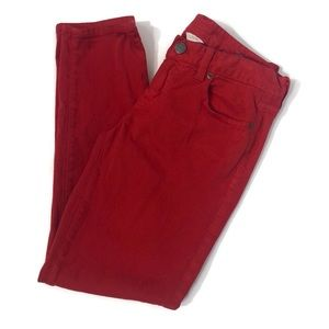 j crew toothpick ankle jeans red size 28